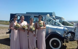 Dr Emma and Dr Kirk with Bridal Party at St Illyds Church