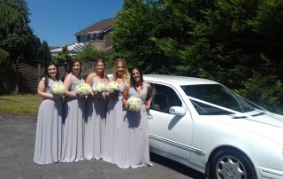 Melissa and Gareth and bridesmaids