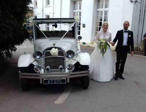 Stuart and Samantha got married at St Teilos Merythr then travelled to Court Coleman in Millie